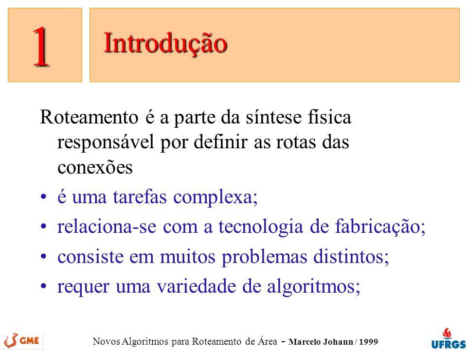 1 Introdução. Roteamento é a parte da síntese física responsável por definir as rotas das conexões.