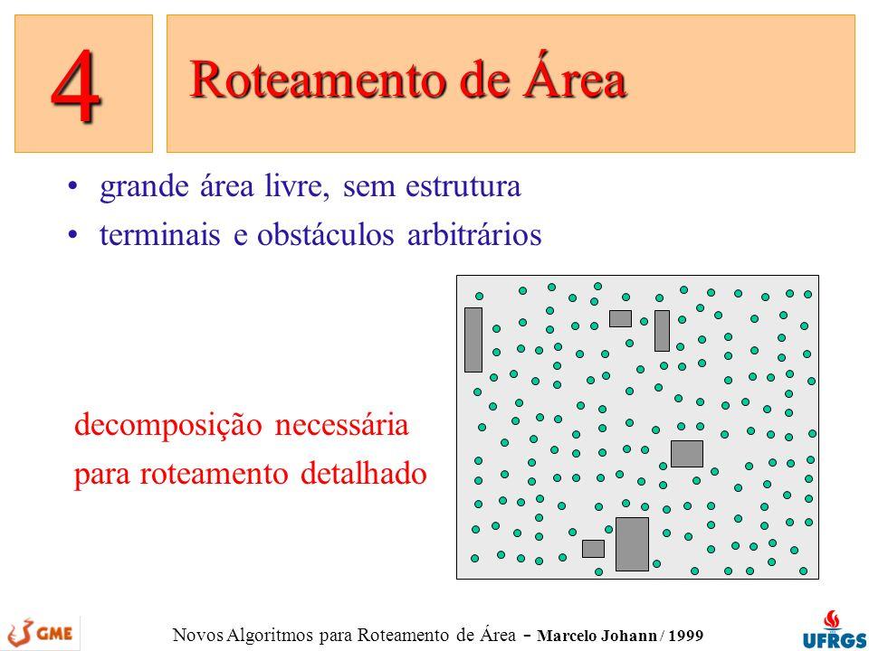 4 grande área livre, sem estrutura terminais e obstáculos arbitrários
