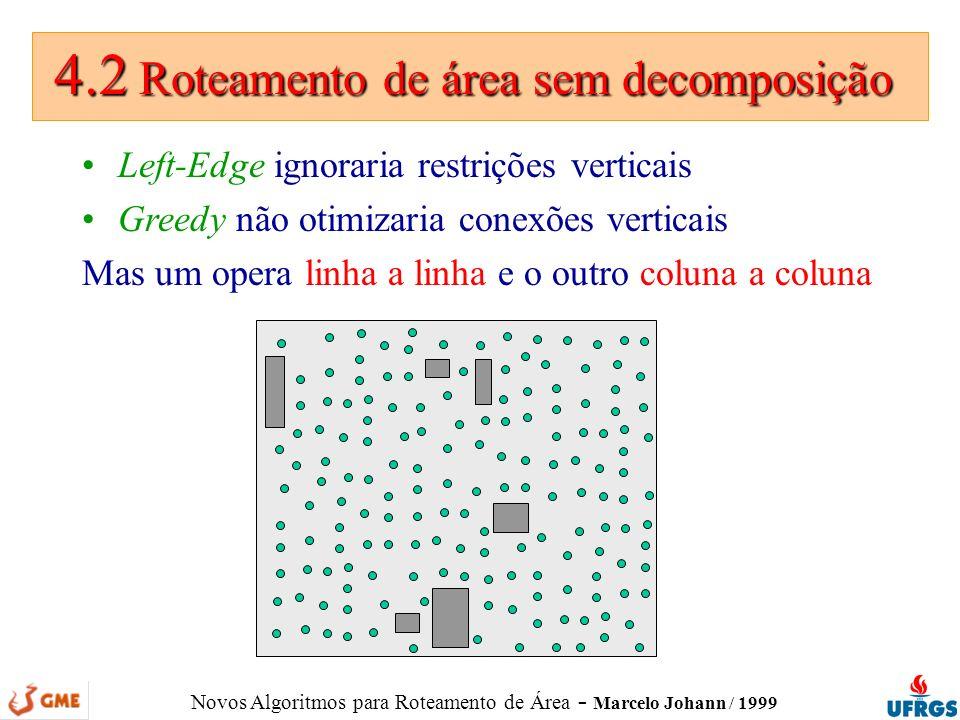 4.2 Roteamento de área sem decomposição