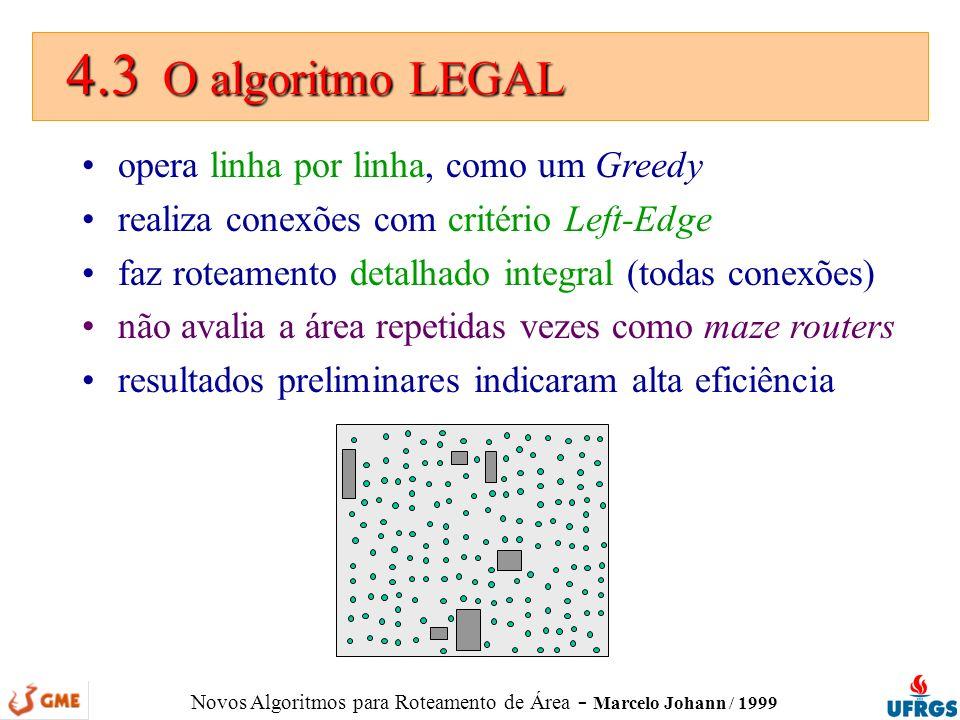 4.3 O algoritmo LEGAL opera linha por linha, como um Greedy