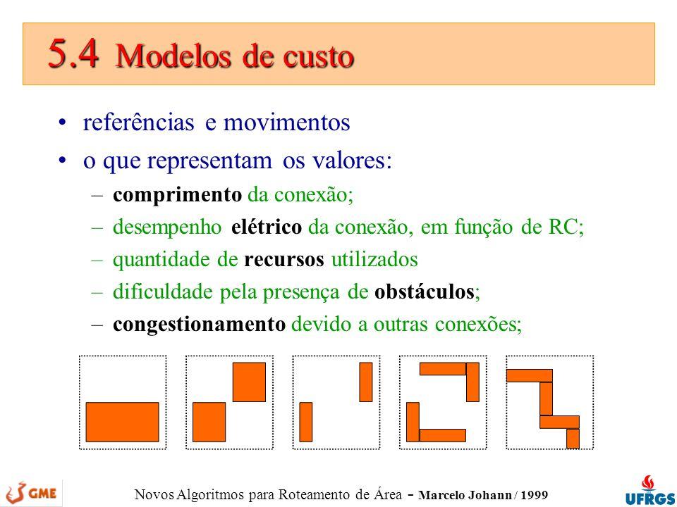 5.4 Modelos de custo referências e movimentos