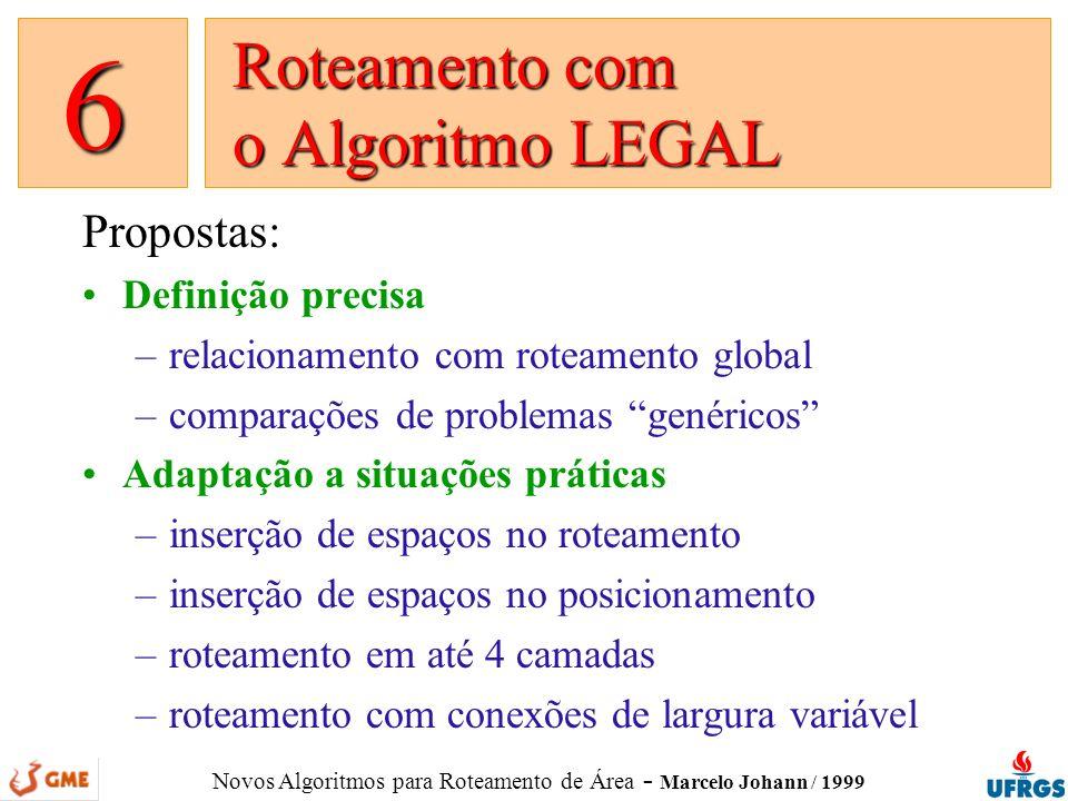 Roteamento com o Algoritmo LEGAL