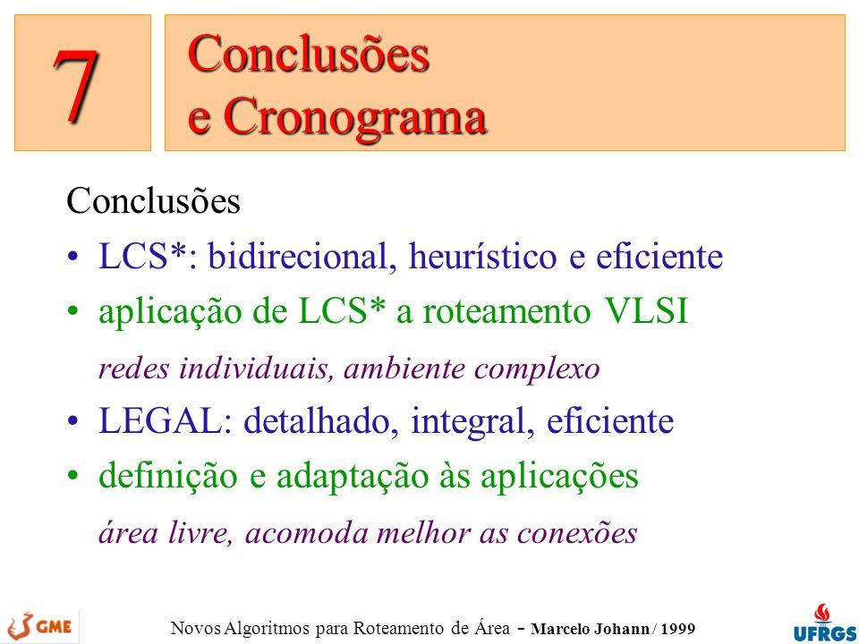 Conclusões e Cronograma
