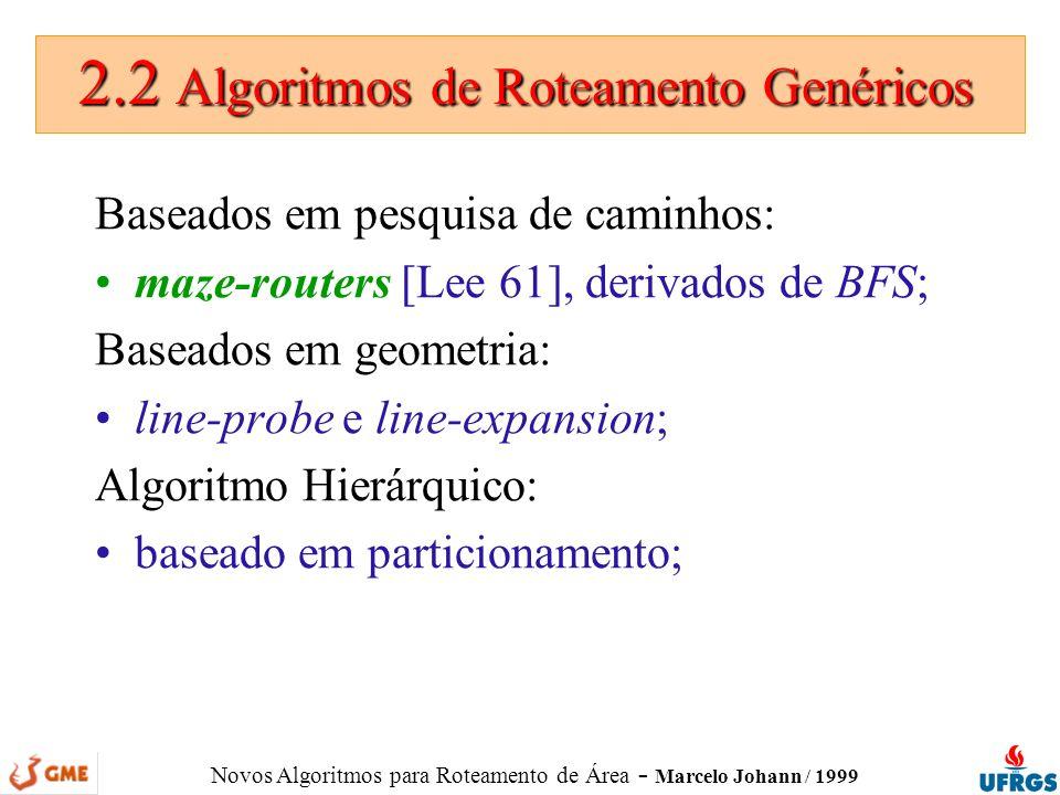 2.2 Algoritmos de Roteamento Genéricos