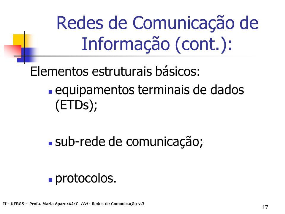 Redes de Comunicação de Informação (cont.):