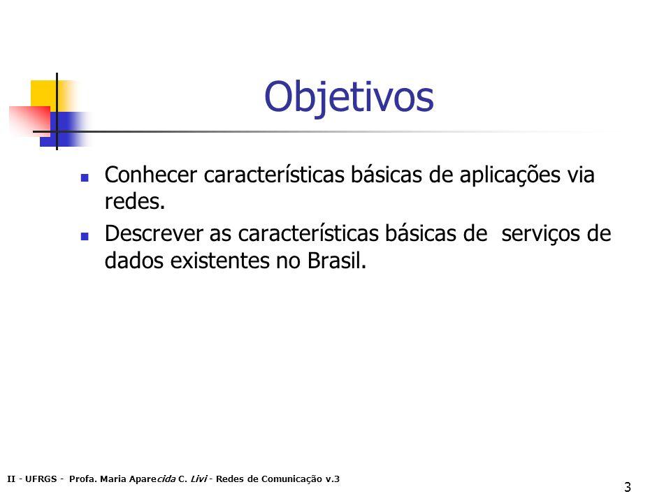 Objetivos Conhecer características básicas de aplicações via redes.