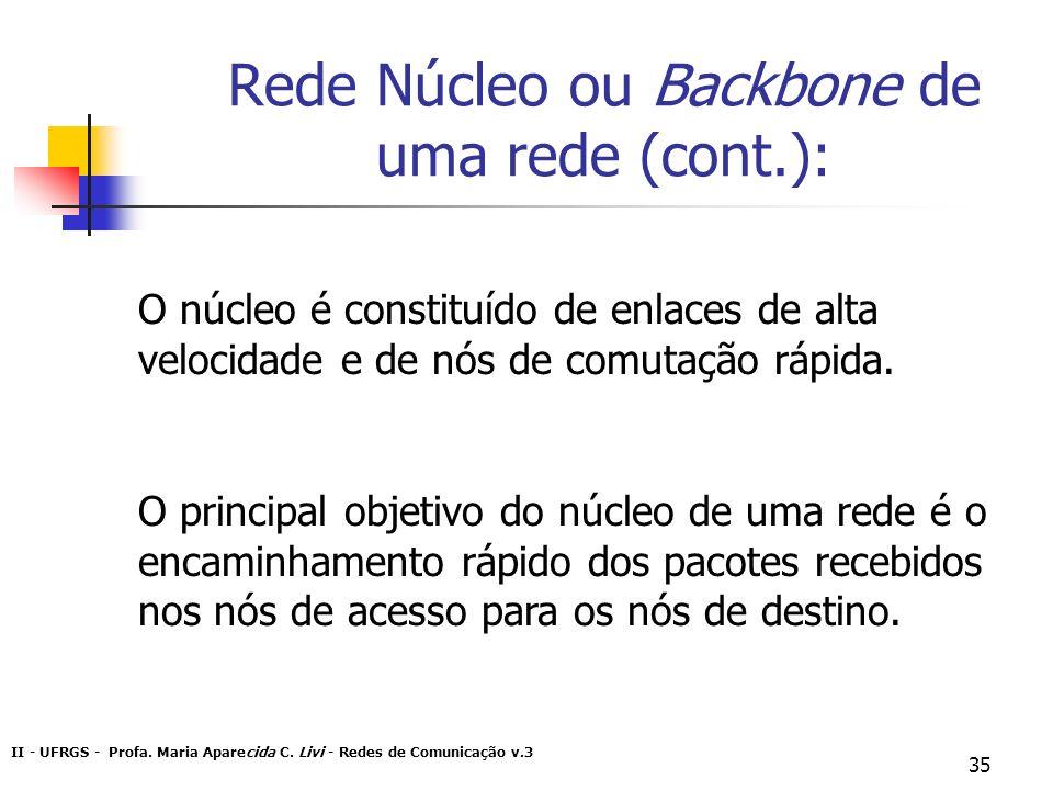Rede Núcleo ou Backbone de uma rede (cont.):