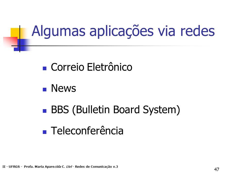 Algumas aplicações via redes