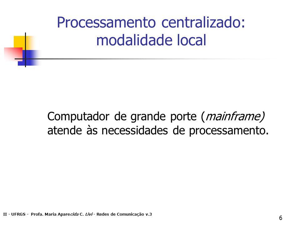 Processamento centralizado: modalidade local