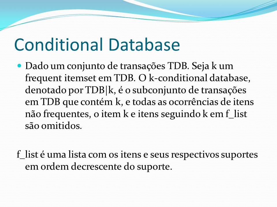 Conditional Database
