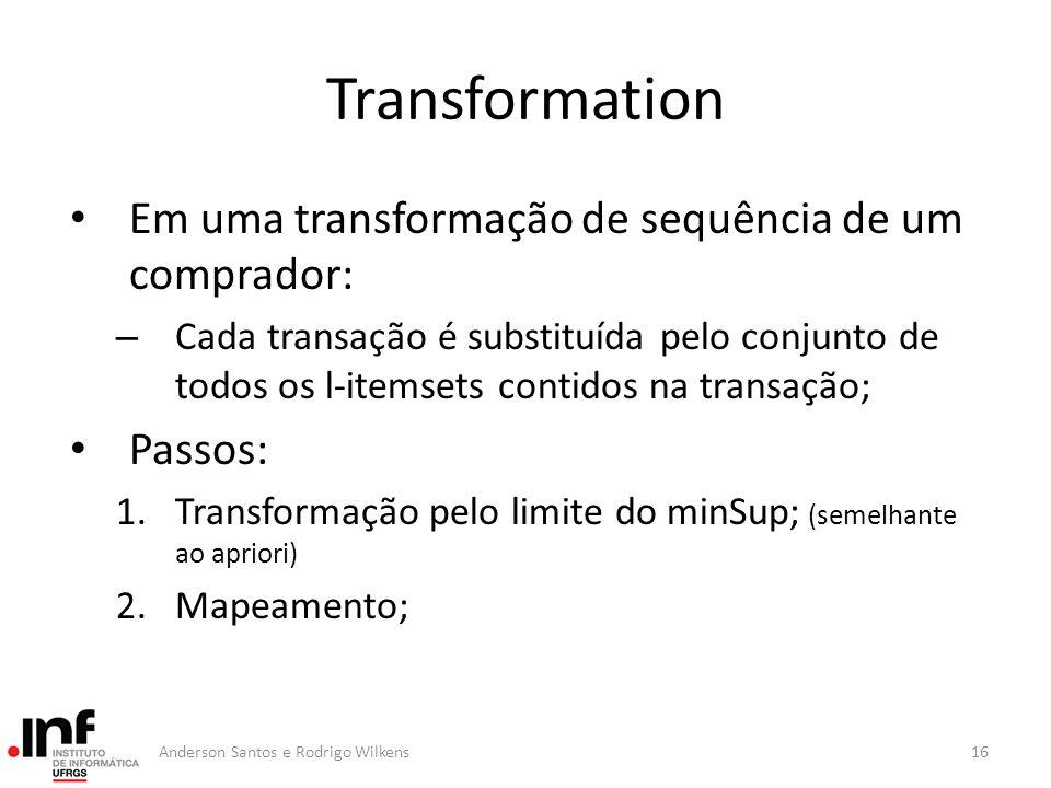 Transformation Em uma transformação de sequência de um comprador: