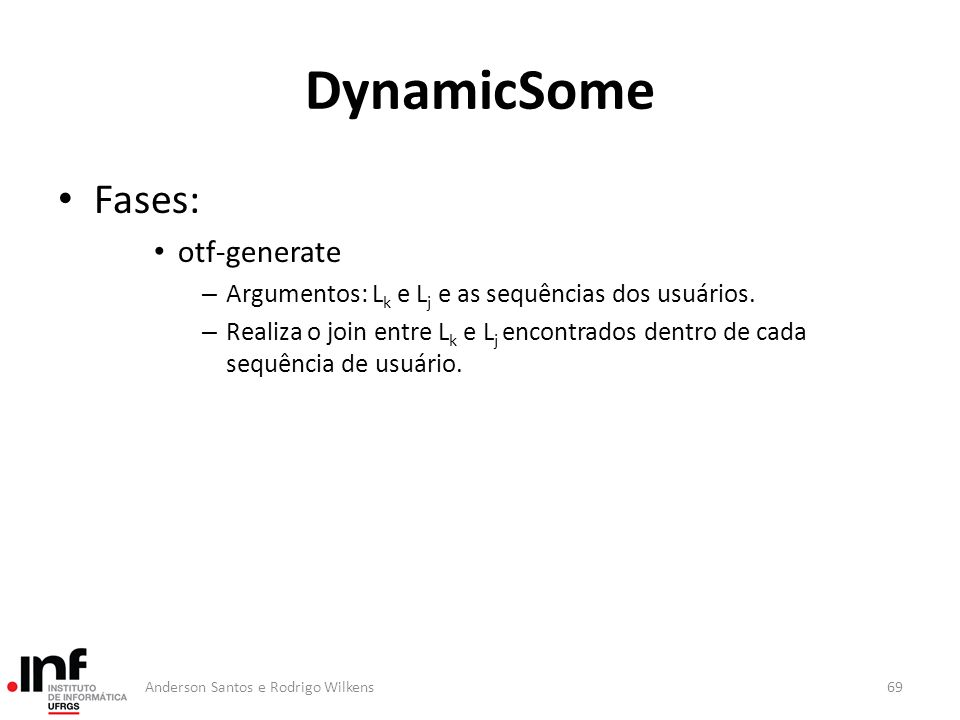 DynamicSome Fases: otf-generate
