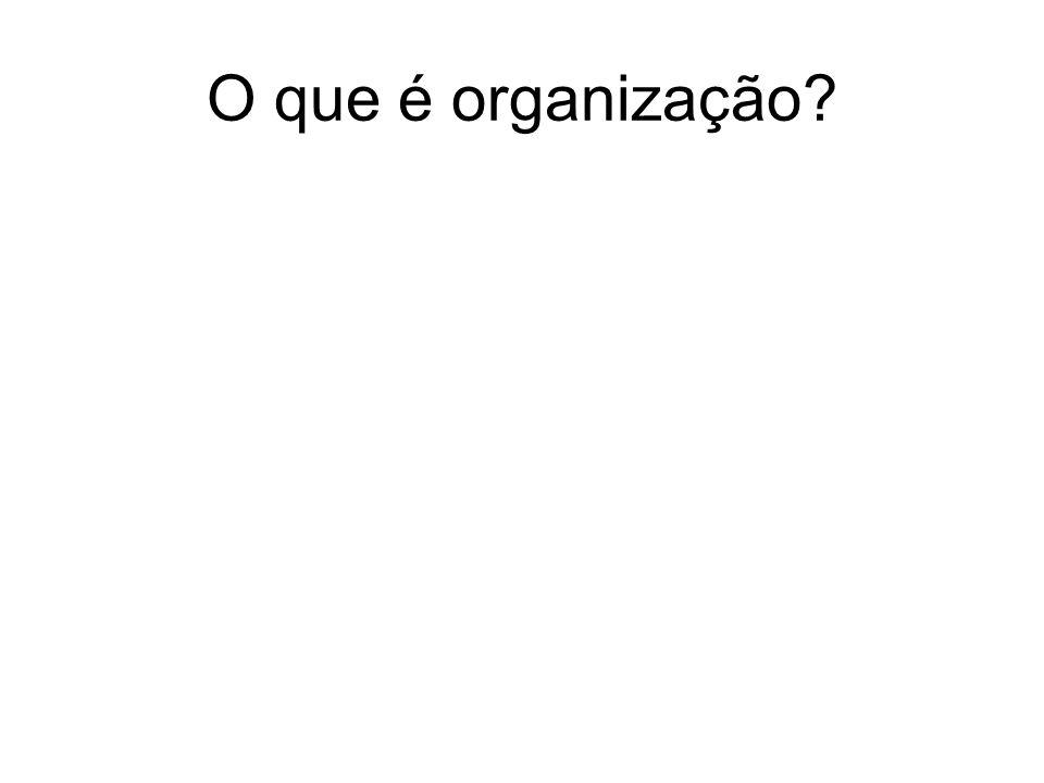 O que é organização