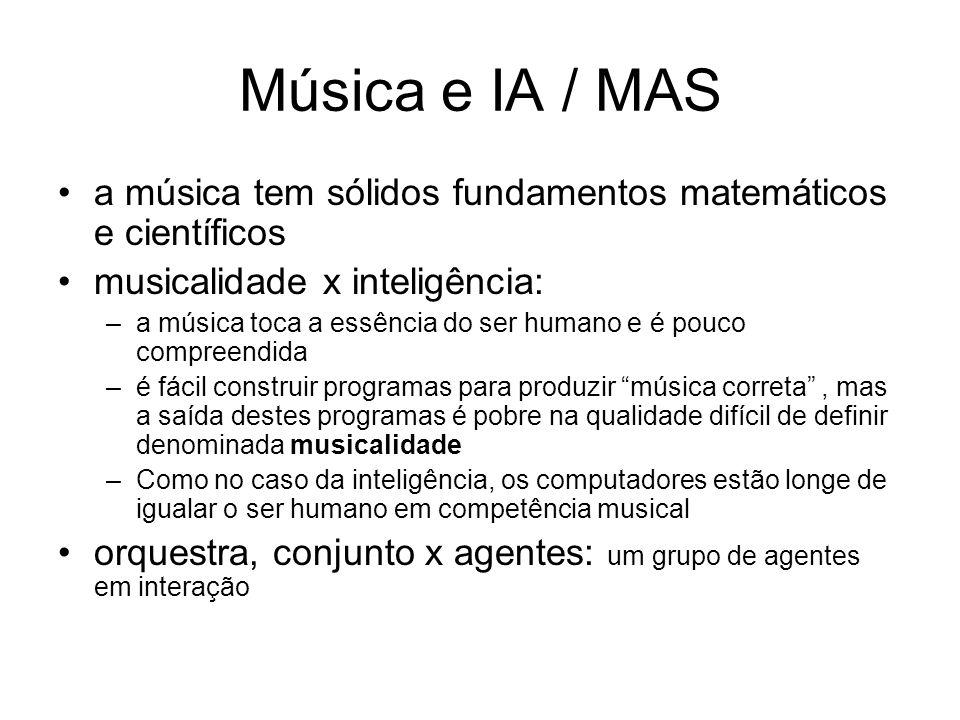 Música e IA / MAS a música tem sólidos fundamentos matemáticos e científicos. musicalidade x inteligência: