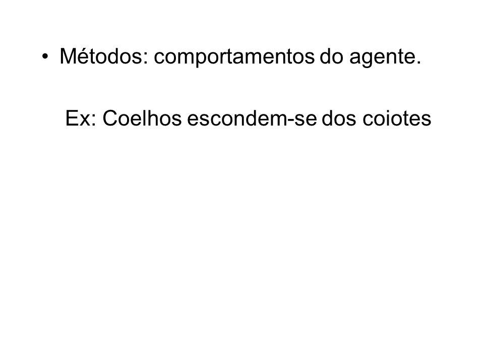 Métodos: comportamentos do agente.
