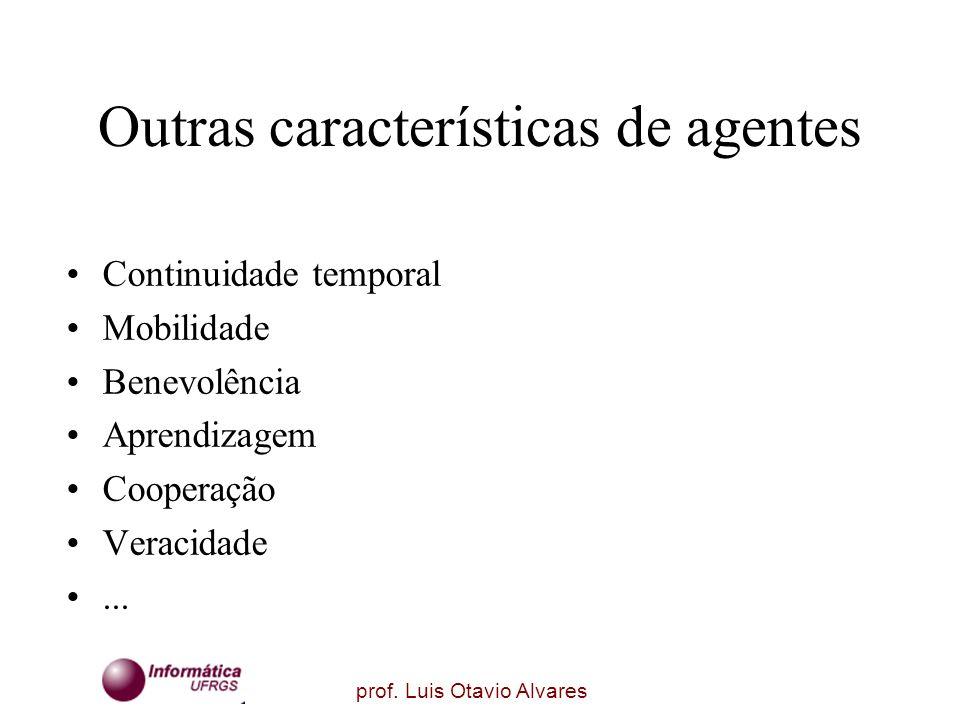 Outras características de agentes