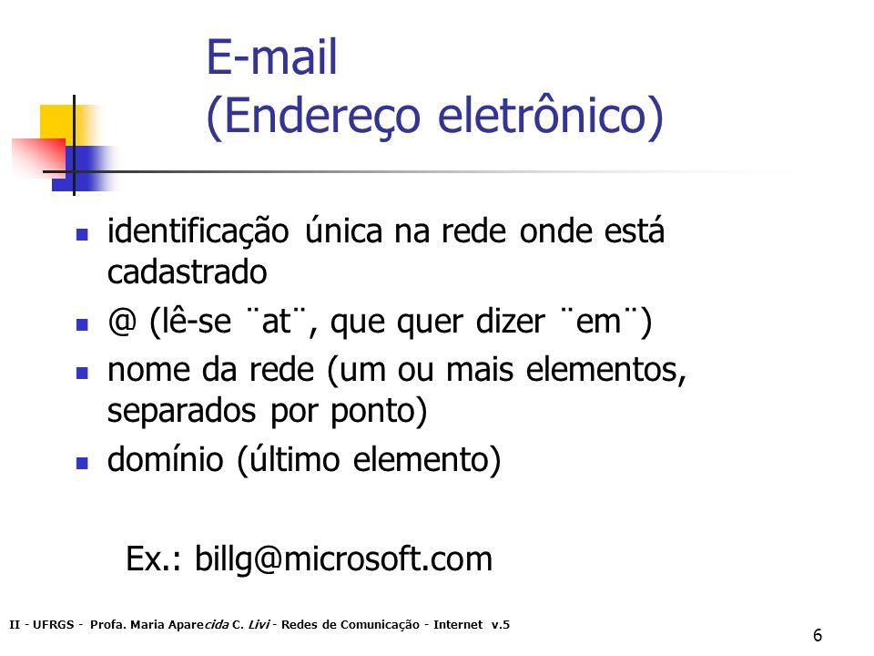 E-mail (Endereço eletrônico)