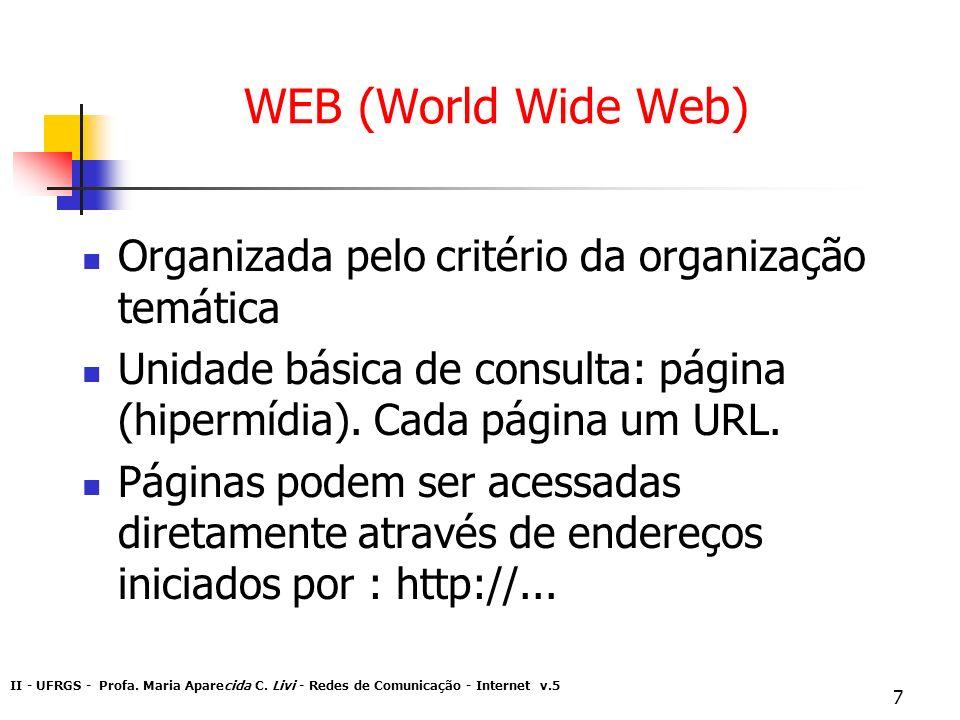 WEB (World Wide Web) Organizada pelo critério da organização temática