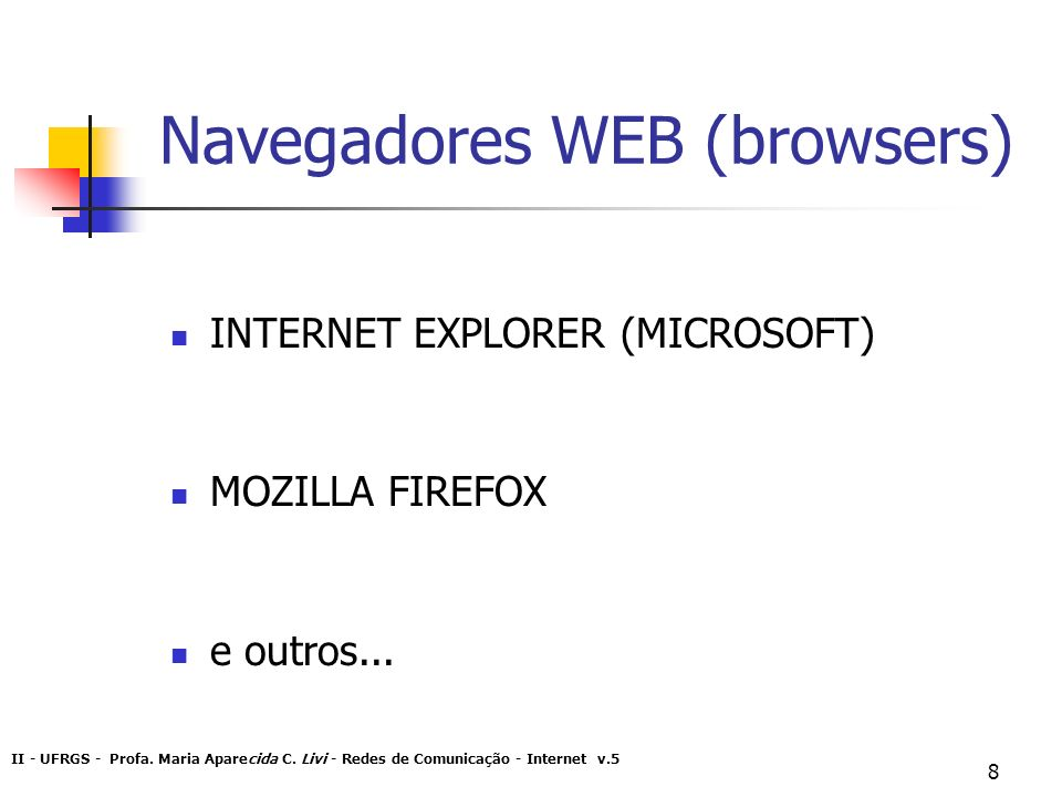 Navegadores WEB (browsers)
