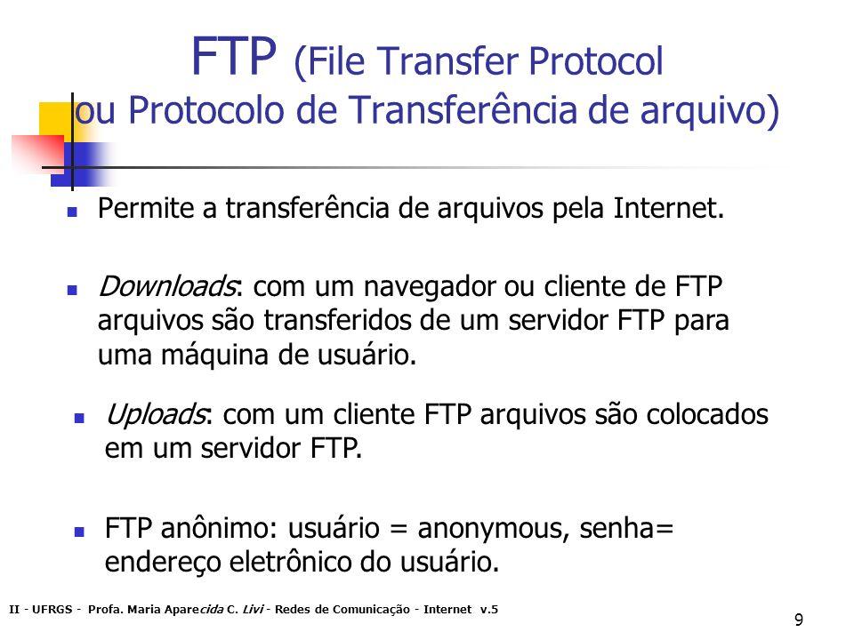 FTP (File Transfer Protocol ou Protocolo de Transferência de arquivo)