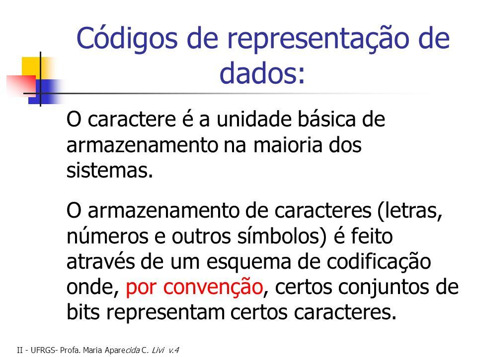 Códigos de representação de dados: