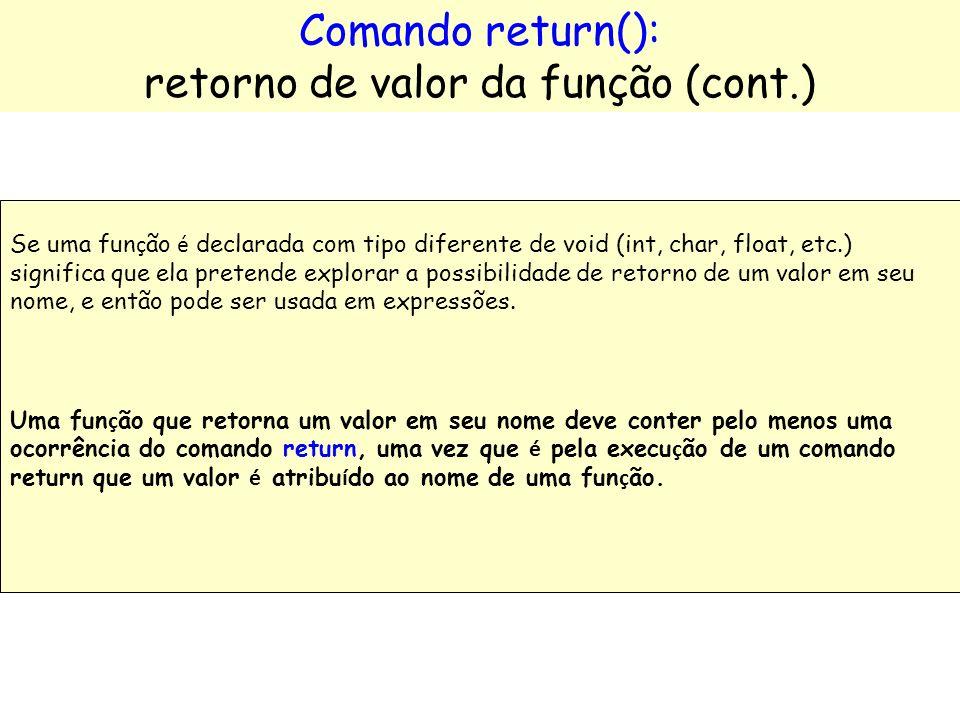 retorno de valor da função (cont.)