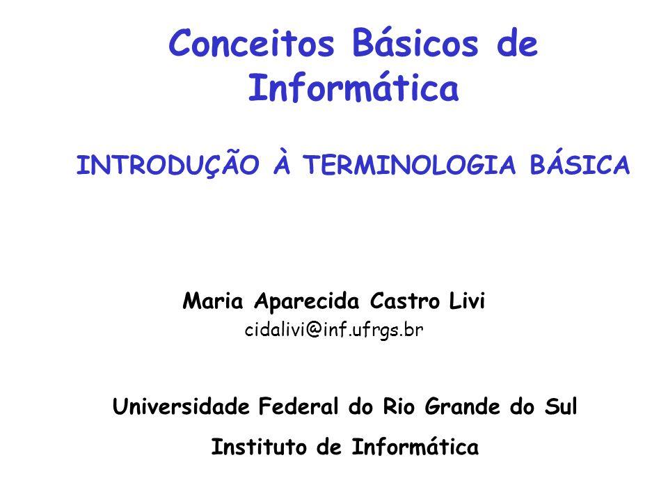 Conceitos Básicos de Informática INTRODUÇÃO À TERMINOLOGIA BÁSICA