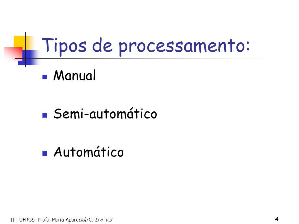 Tipos de processamento: