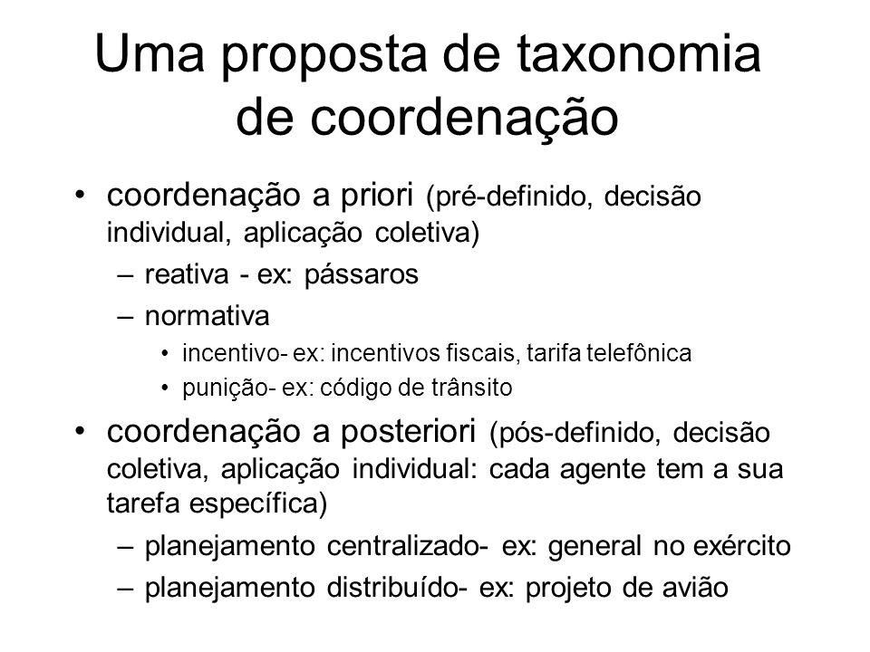 Uma proposta de taxonomia de coordenação