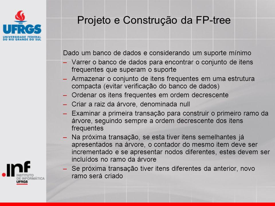 Projeto e Construção da FP-tree