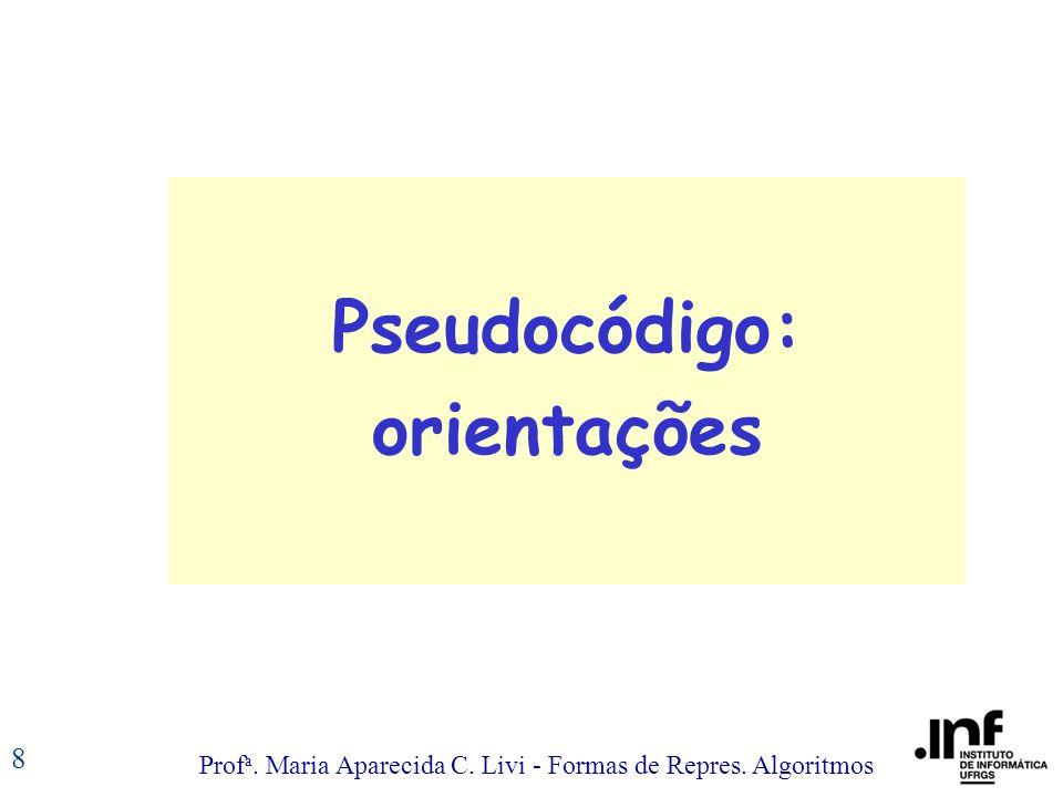 Pseudocódigo: orientações