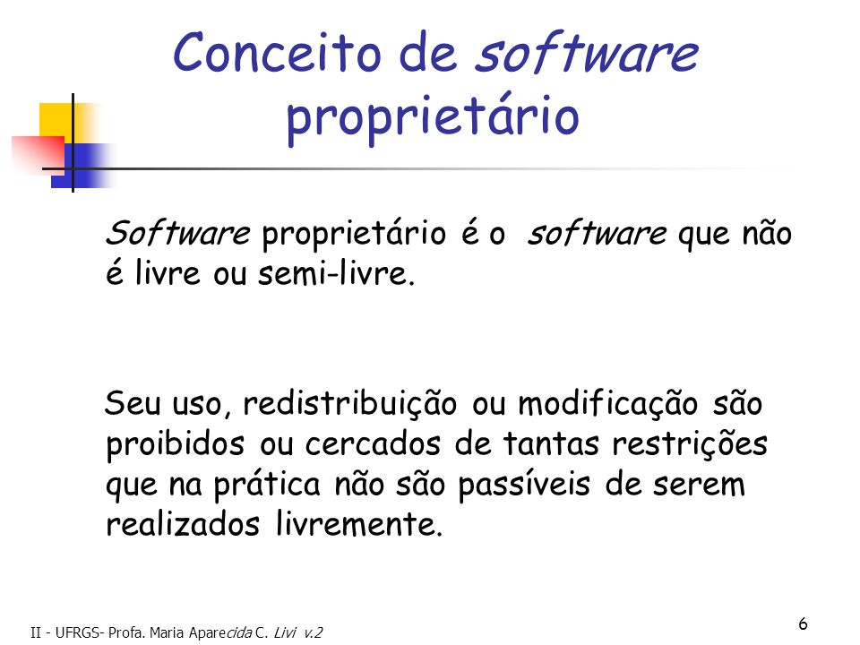 Conceito de software proprietário