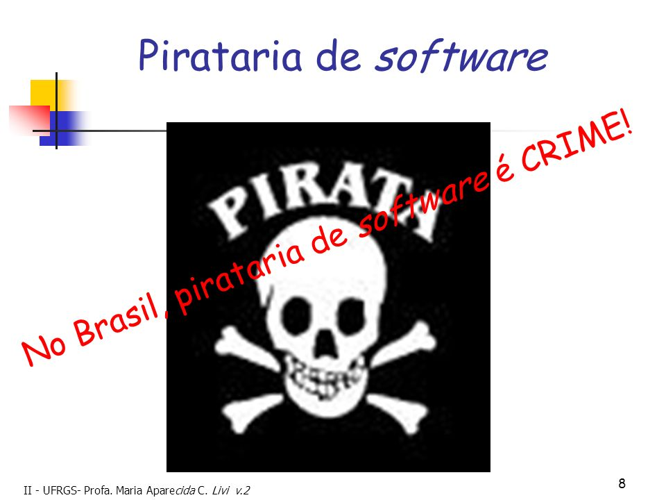Pirataria de software No Brasil, pirataria de software é CRIME! 8 8