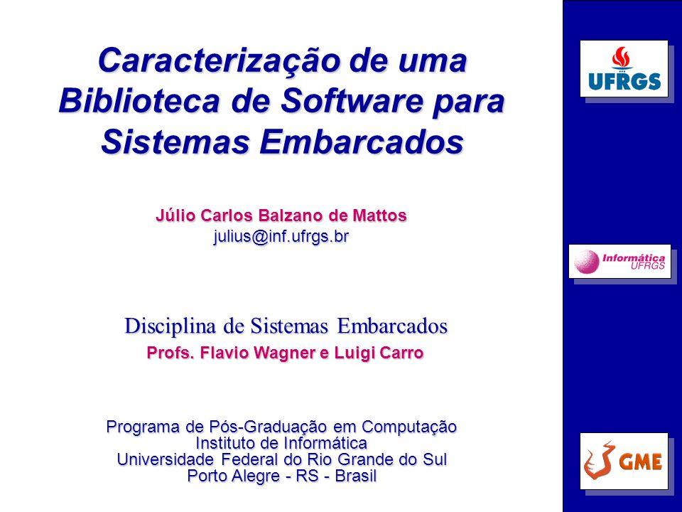 Caracterização de uma Biblioteca de Software para Sistemas Embarcados