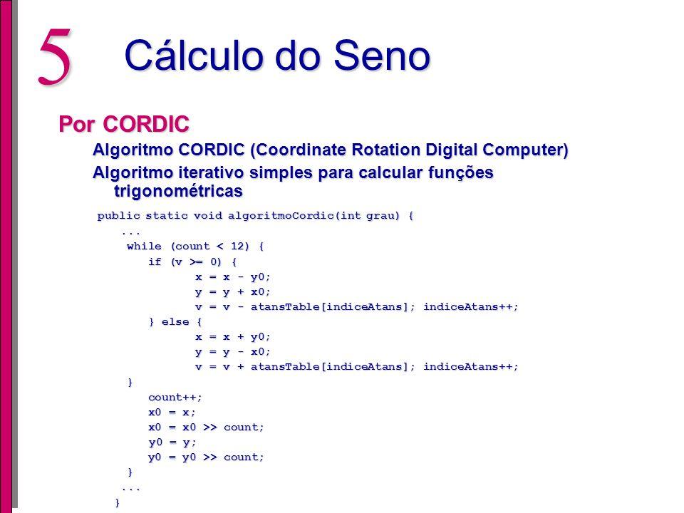 Cálculo do Seno Por CORDIC