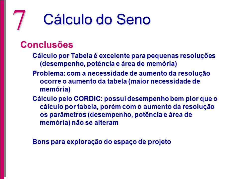 Cálculo do Seno Conclusões