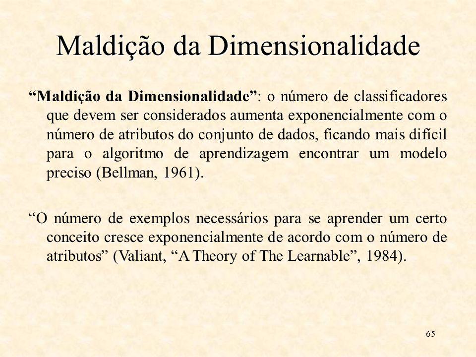 Maldição da Dimensionalidade