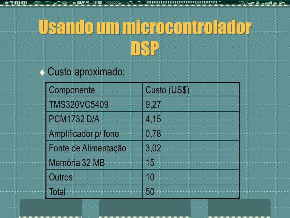 Usando um microcontrolador DSP