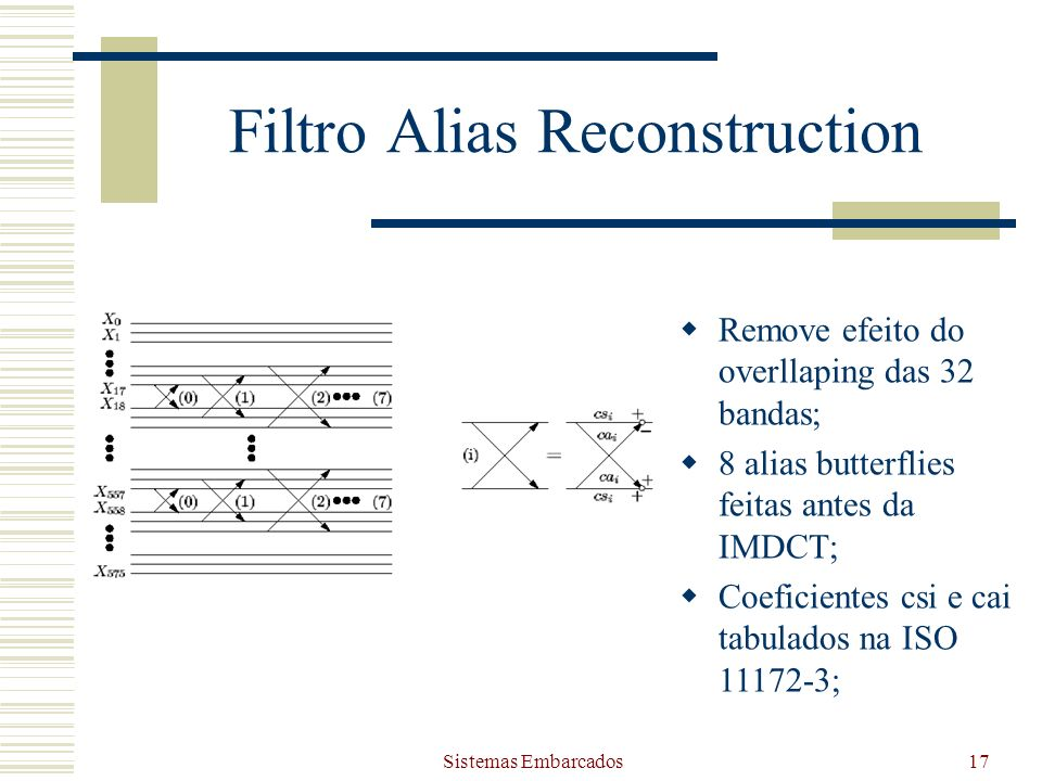 Filtro Alias Reconstruction
