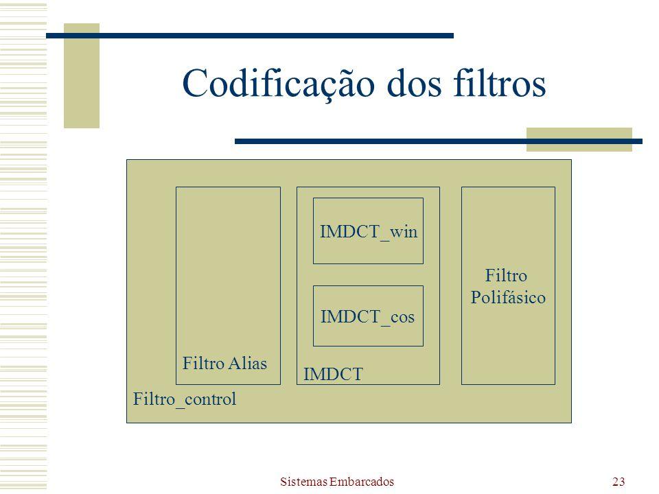Codificação dos filtros