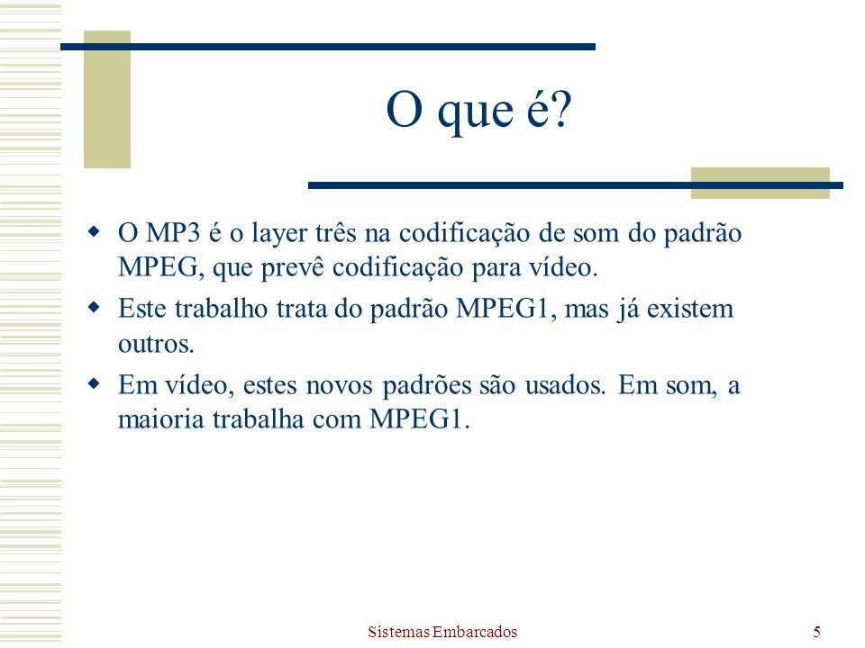 O que é O MP3 é o layer três na codificação de som do padrão MPEG, que prevê codificação para vídeo.