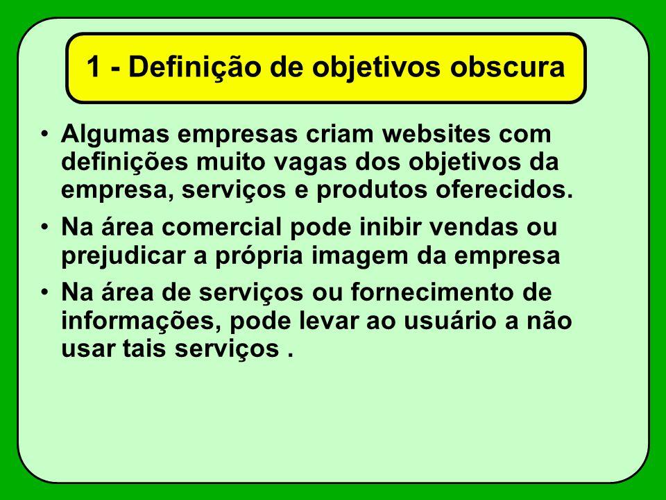 1 - Definição de objetivos obscura
