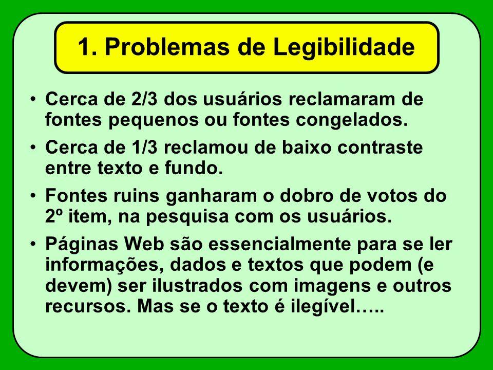 1. Problemas de Legibilidade