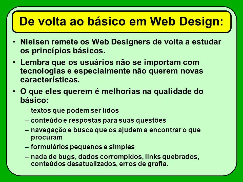 De volta ao básico em Web Design:
