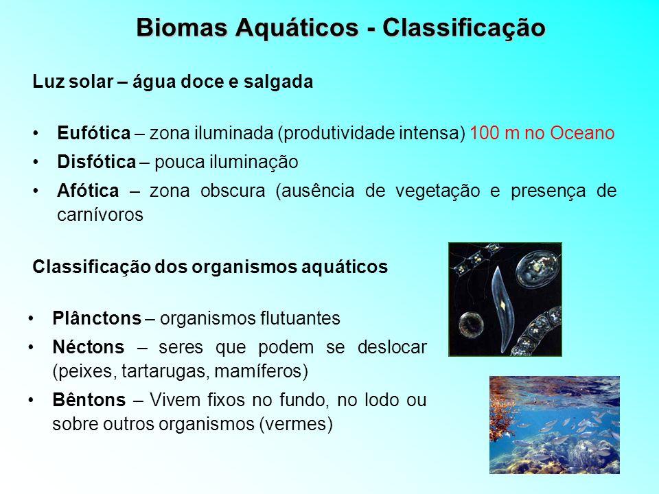 Biomas Aquáticos - Classificação