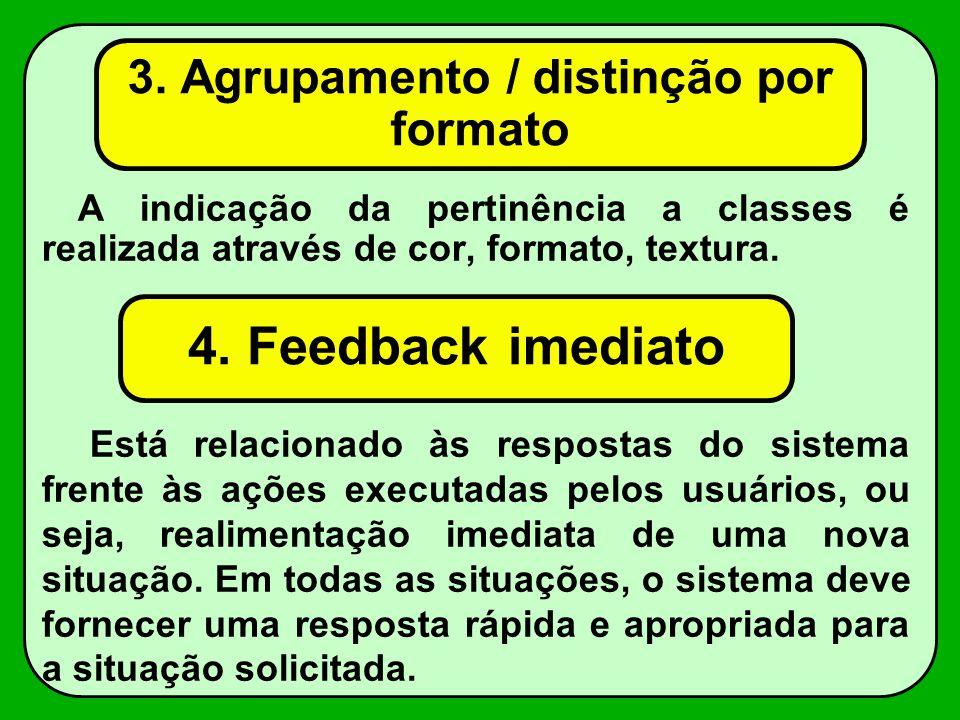 3. Agrupamento / distinção por formato