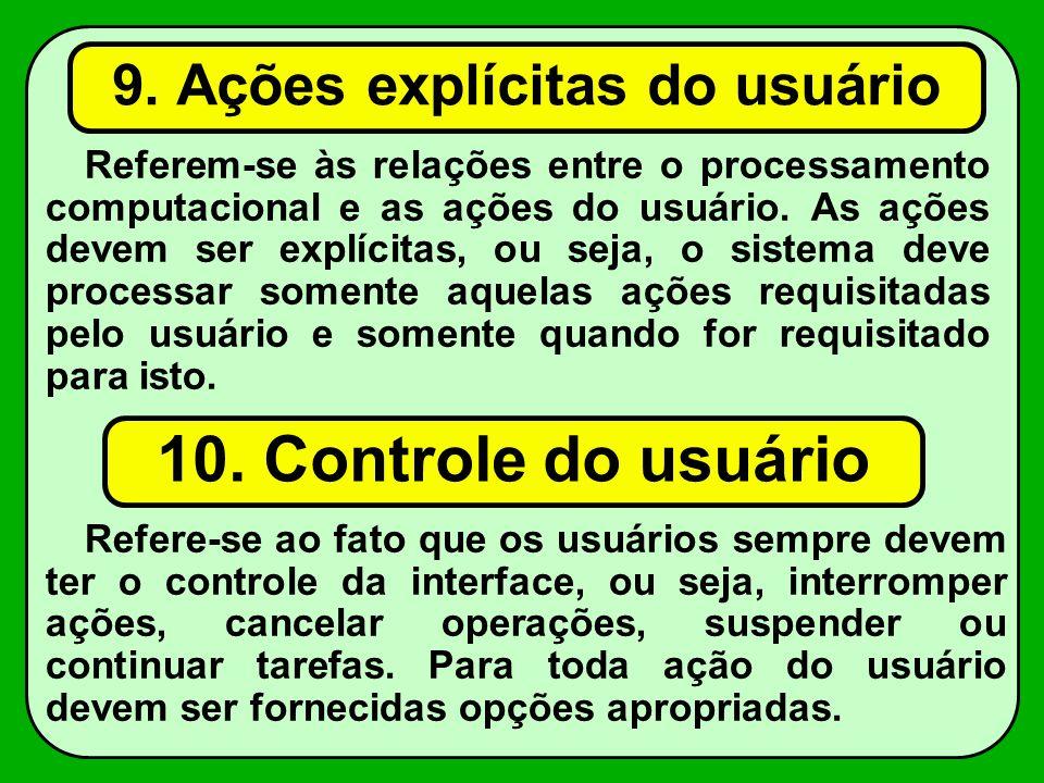 9. Ações explícitas do usuário