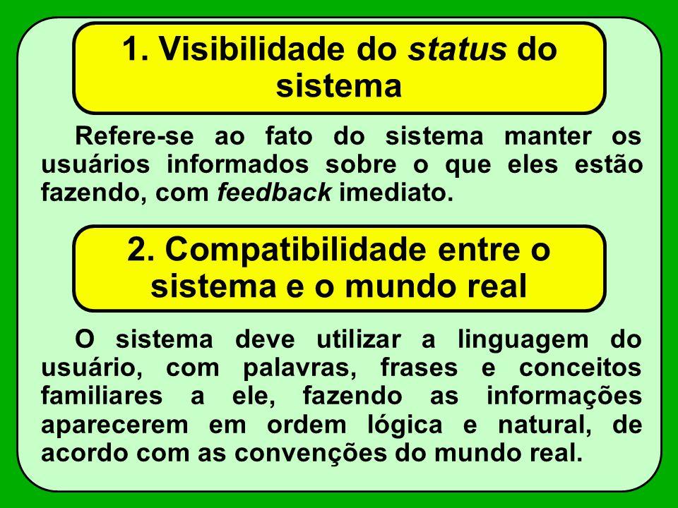 1. Visibilidade do status do sistema
