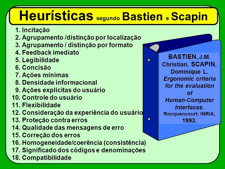 Heurísticas segundo Bastien e Scapin