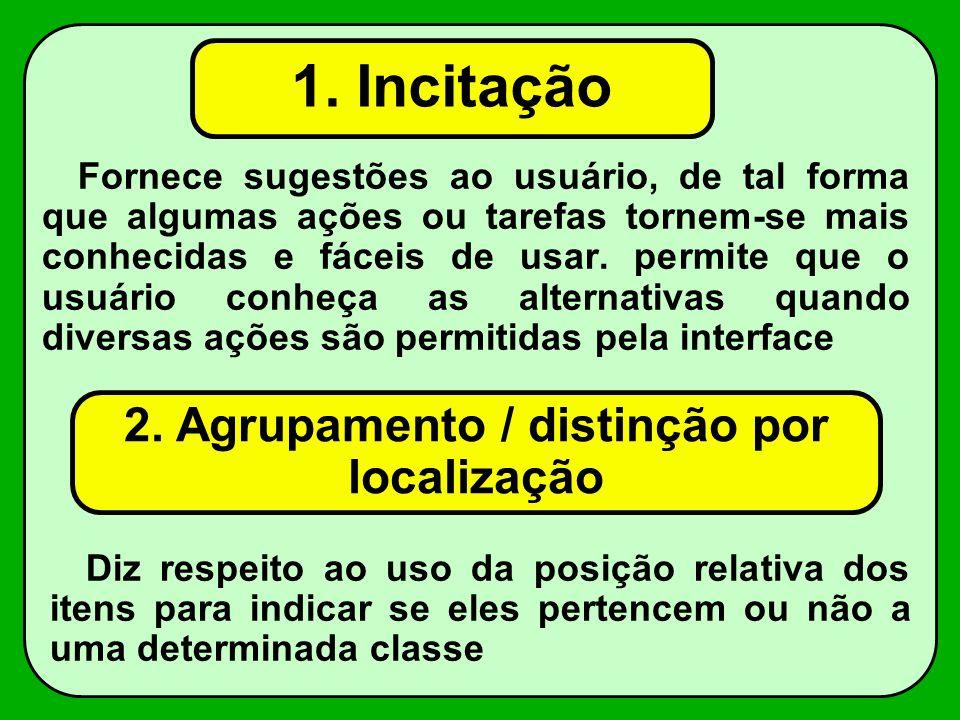 2. Agrupamento / distinção por localização